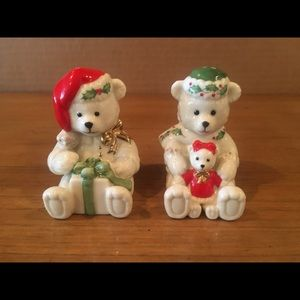 Lenox Christmas Bear Salt and Pepper Set